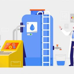 clean-water-filter-process-vector-illustration